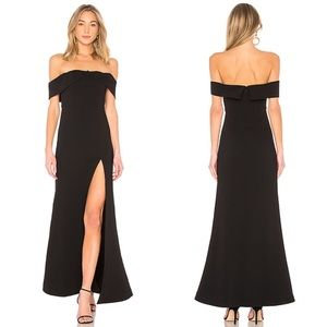 NBD Mas Besos Gown in Black NWT
